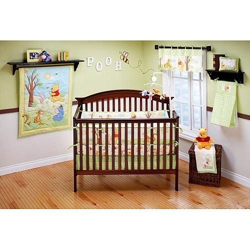 4pc Unisex Winnie The Pooh S Playful Day Pooh Crib Bedding