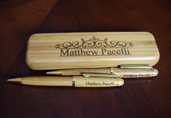 Personalized Maple Rosewood or Bamboo Pen by Danielscustomgifts