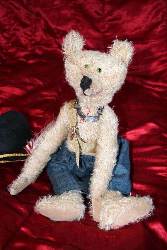 artist bear handmade bear growling bear collectors bear