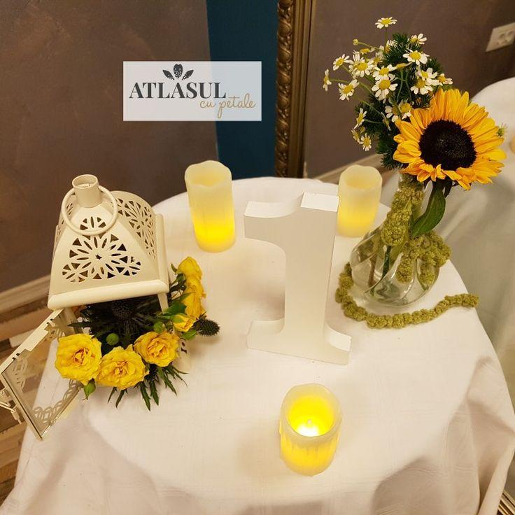 Aranjament floral nunta sau botez