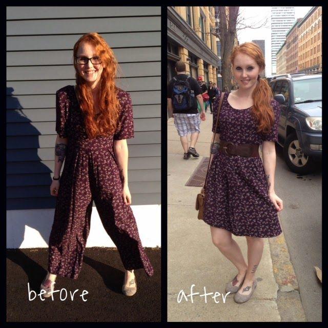 Thrift Store Refashion: 90's Jumper To Summer Dress In 15 Minutes!