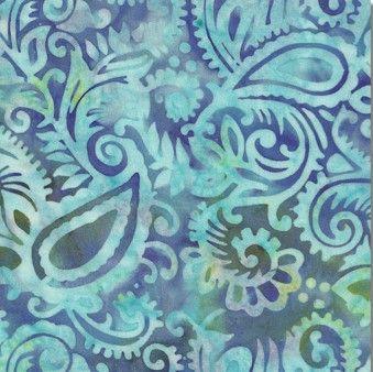 Batik Rayon - Paisley Esprit Delft Meadow - Distinctive Sewing Supplies