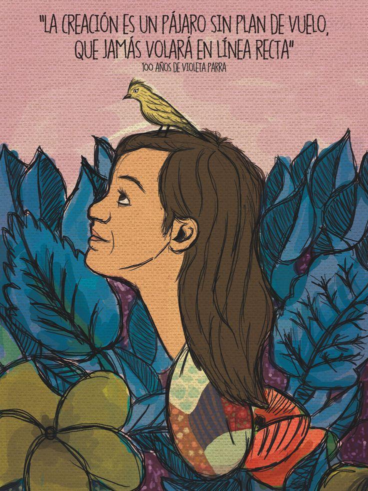 Afiche Violeta Parra, Chile.