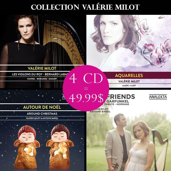 Offre exclusive de 4CD physiques pour 49,99$ seulement Sur analekta.com seulement :   http://www.analekta.com/album/?milot-valerie-la-collection-valerie-milot-4-albums.1764.html Offre valide jusqu'au 15 décembre