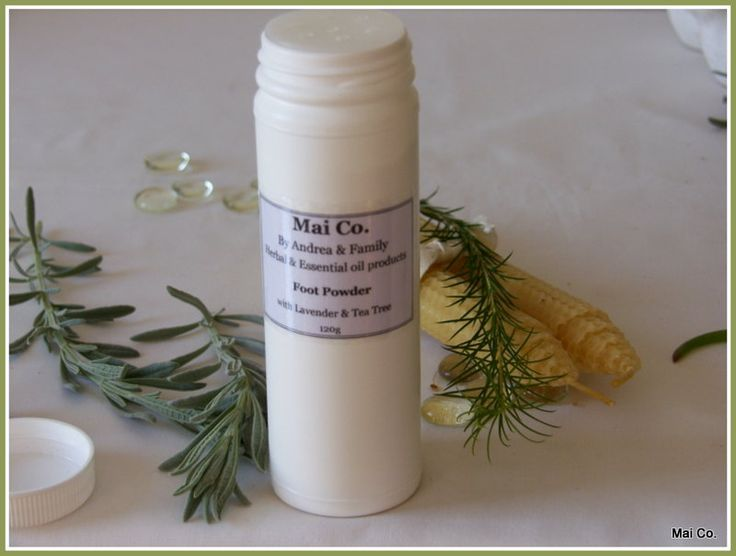 Mai Co Foot Powder made with Lavender, Tea-tree, Rosemary and Lemongrass makes a wonderful gift for the man in your life.