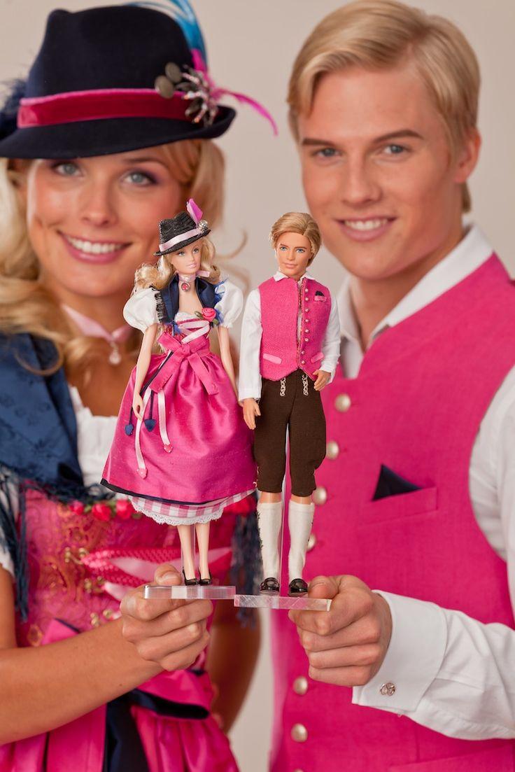Barbie & Ken in Oktoberfest Fashion by Dirndl Designer Schatzi!