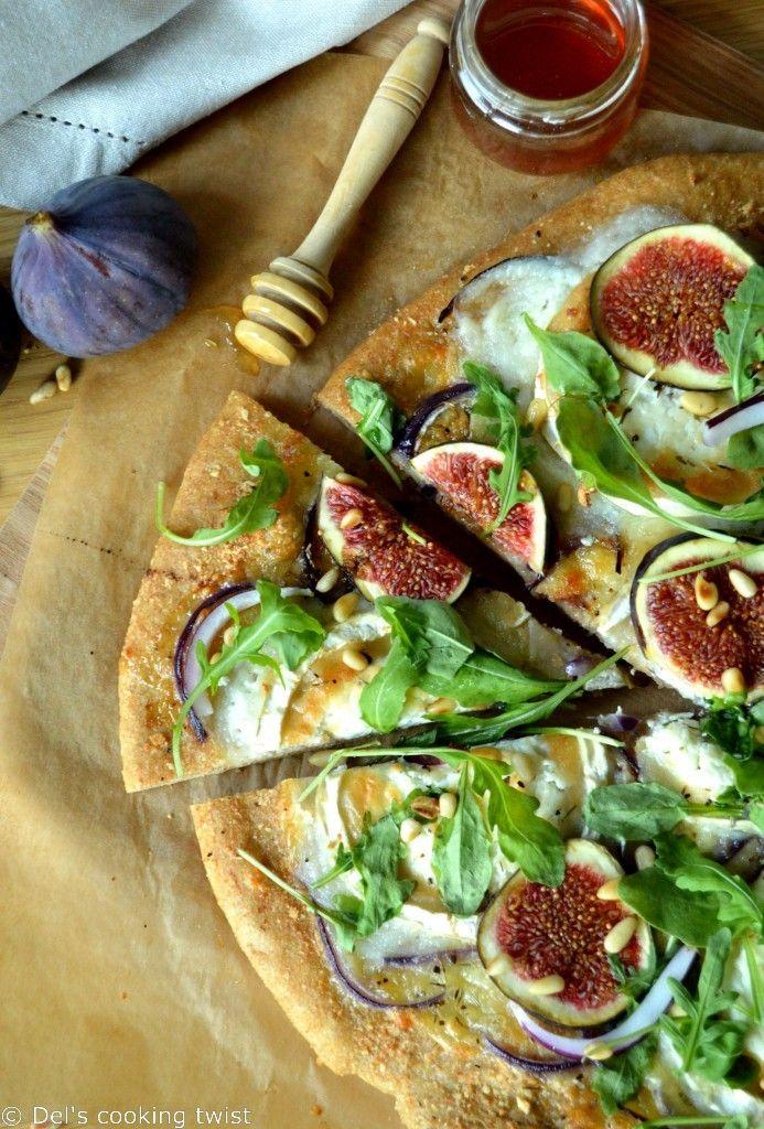 Pizza aux figues et au chèvre à la farine complète | Del's cooking twist