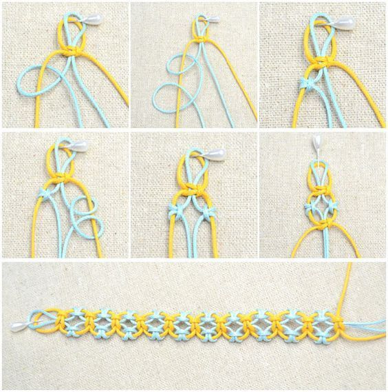 In this simple DIY jewelry tutorial, you will learn how to knit a friendship bracelet with lark knots. This idea is just an easy way to DIY friendship bracelet