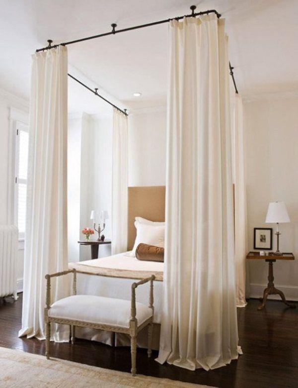 Ikea Panel Curtain Insitu Google Search: Diy Bed Canopy - Google Search