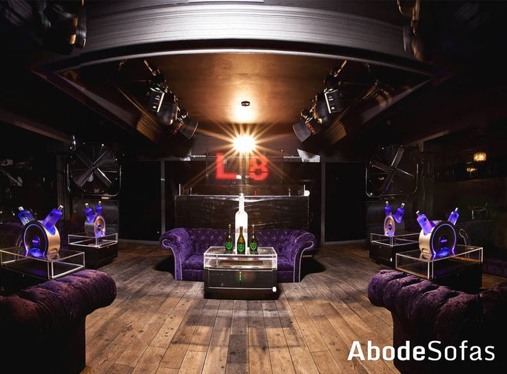 Down in London at the L8 Club you'll find an abundance of our Purple Velvet Belmonts | Abode Sofas