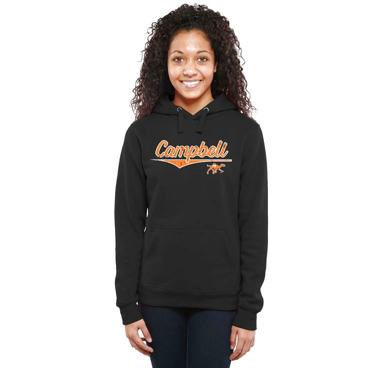 Campbell Fighting Camels Women's American Classic Pullover Hoodie - Black - $44.99