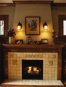 35 best Fireplaces images on Pinterest Craftsman fireplace