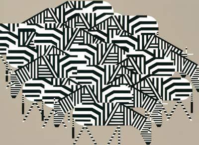 Charley Harper. Serengeti spaghetti, 1979