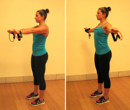 Improve Your Posture and Look Thinner With the Reverse Fly  POSTURE PERFECT: STANDING REVERSE FLY WITH EXERCISE BAND