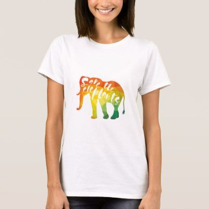Save the Elephants. Calligraphy Graphical Art T-Shirt - calligraphy gifts custom personalize diy create your own