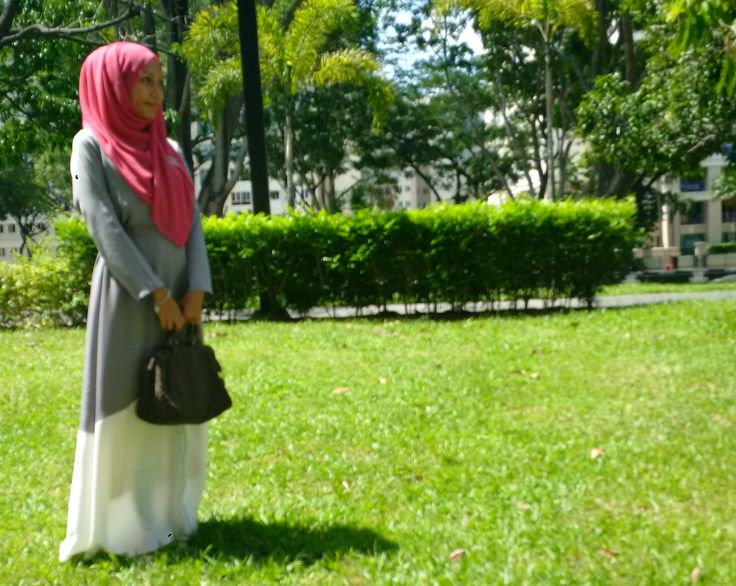 OOTD: a simple dress from Zalora paired with Inayah hijab collection.  Fuss free and cooling!  #Zalora #inayahcollection #eid2015 #hijabstyle #hijabi