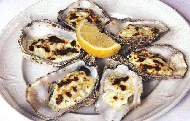 For a deliciously simple oysters recipe, this dish from Bryan Webb is hard to beat. Baked oysters are flavoured with laverbread and covered with creamy Stilton.