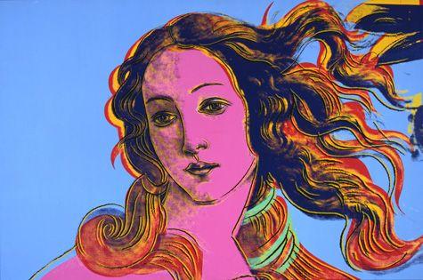 Details of Renaissance Paintings (Sandro Botticelli, Birth of Venus, 1482) - Andy Warhol, 1984