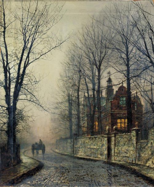 Cave to Canvas, John Atkinson Grimshaw, November Moonlight