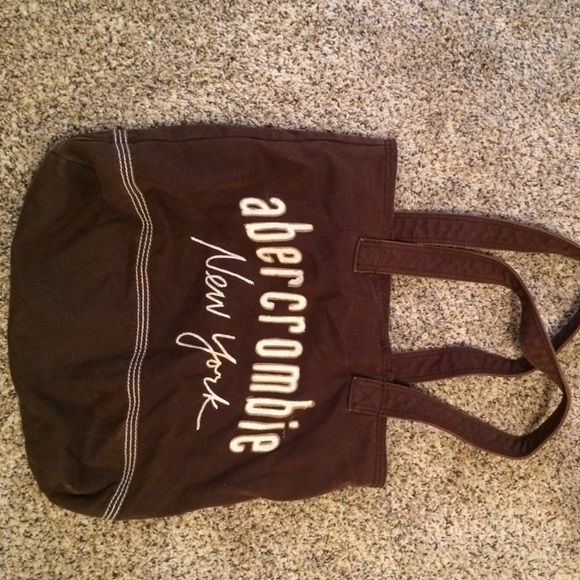 Abercrombie and Fitch tote Brown Abercrombie and Fitch tote. Very versatile - can be used as purse or a bag for class to carry books in. Good shape Abercrombie & Fitch Bags Totes
