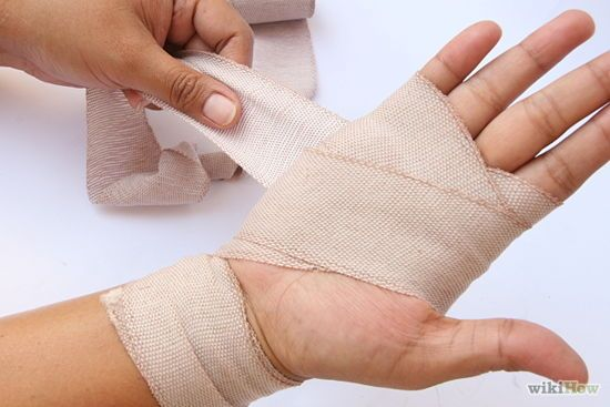 How to wrap a Sprained Wrist for accuracy for Audrey