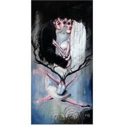 Celebrating Black Hallows by Jon Hall Tattoo Art Canvas Print.