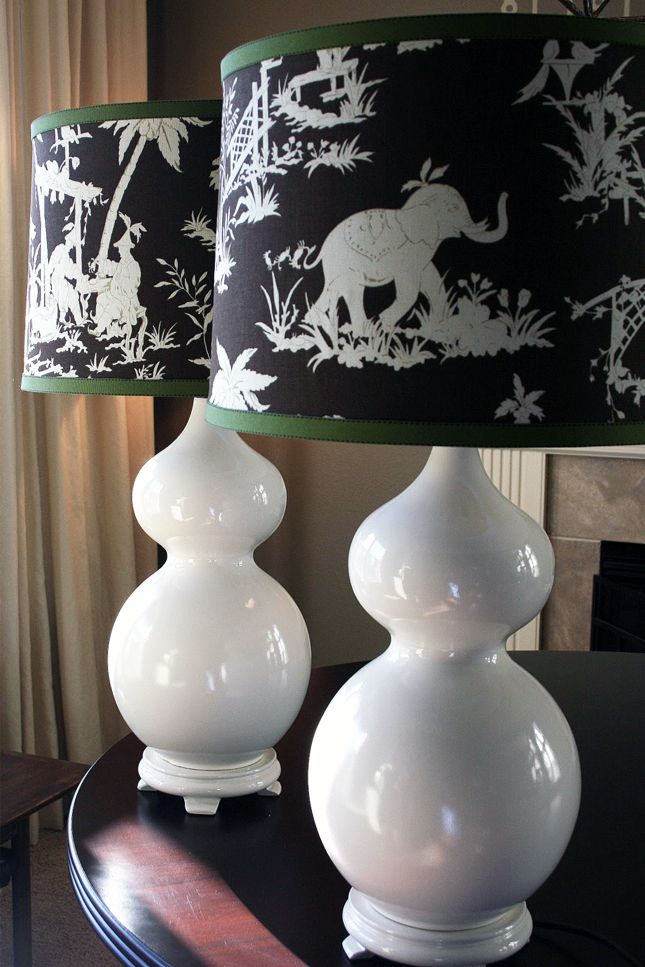 Black and white lamp shades | 40 No-Sew DIY Projects