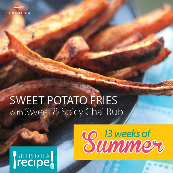 ... recipes.steepedtea.com/sweet-potato-fries-with-sweet-spicy-chai-rub
