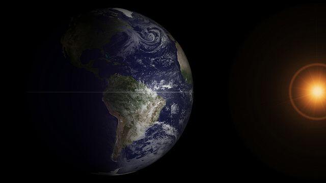 GOES Satellite Captures 2013 Spring Equinox