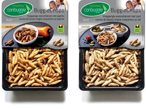 Carrefour commercialise des insectes (Belgique) avec des pâtes à tartiner salés, burgers, boules apéritives, larves entières pour l'apéritif !