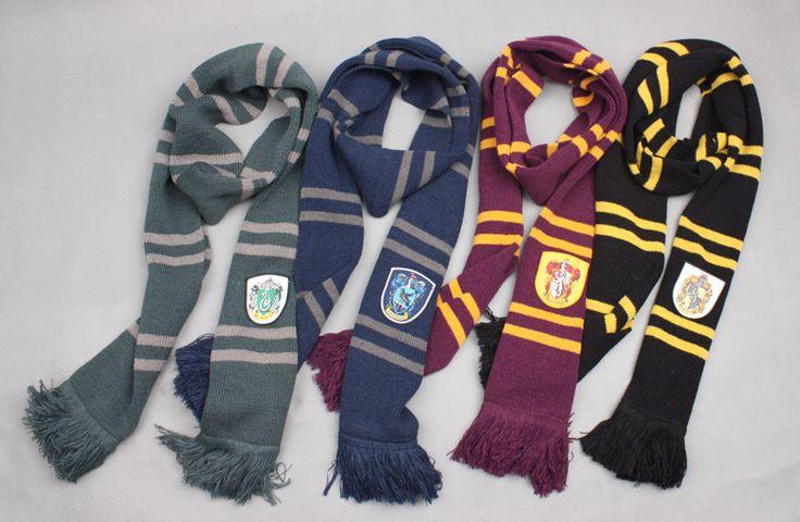 Mode cadeau de harry potter foulards, pendentif. foulards, vêtements. accessoires unisexe. Écharpe 4 styles dans  de  sur Aliexpress.com