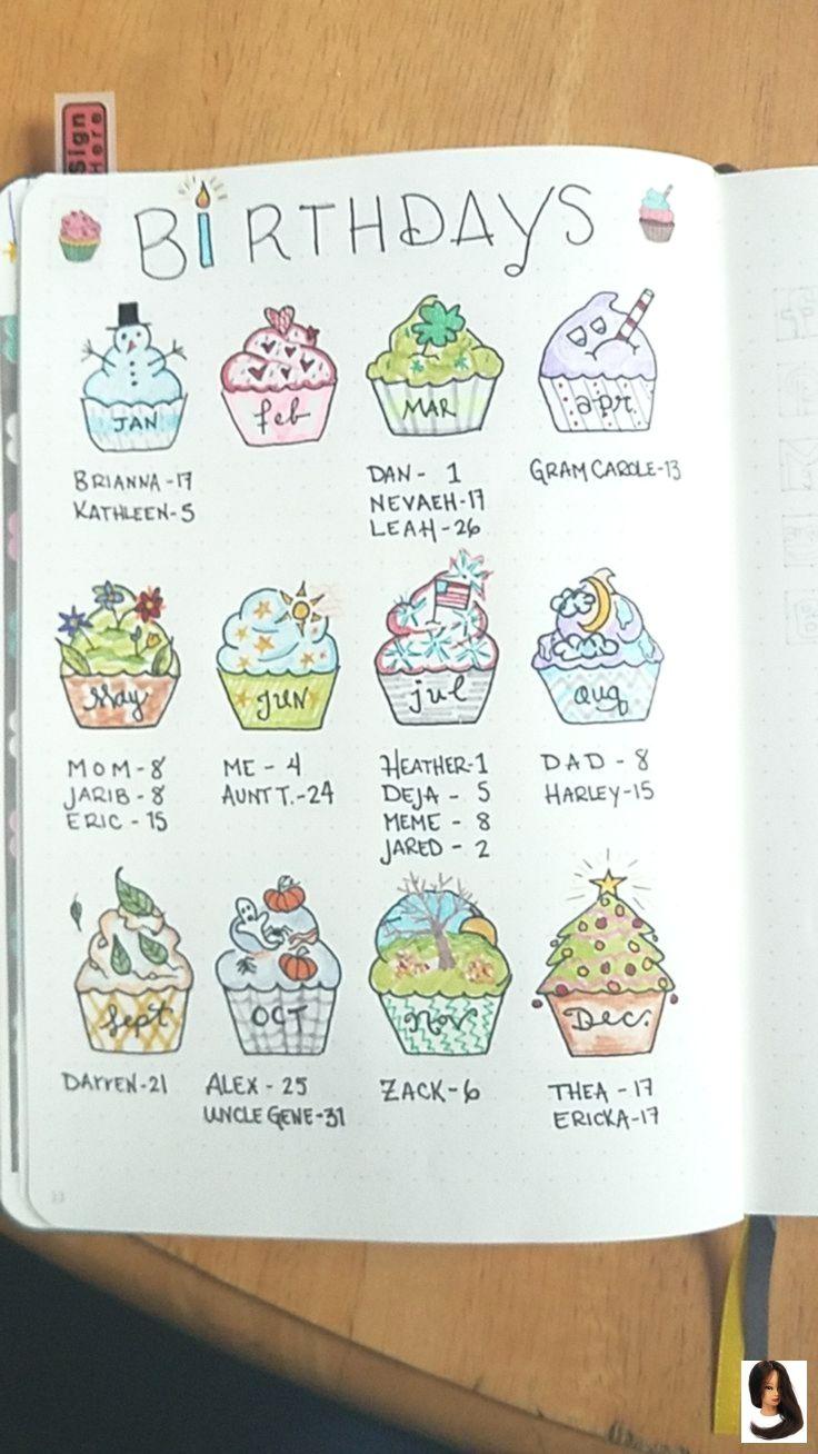 Bullet Cupcakes Geburtstag Health Drawing Journal Mein Zum