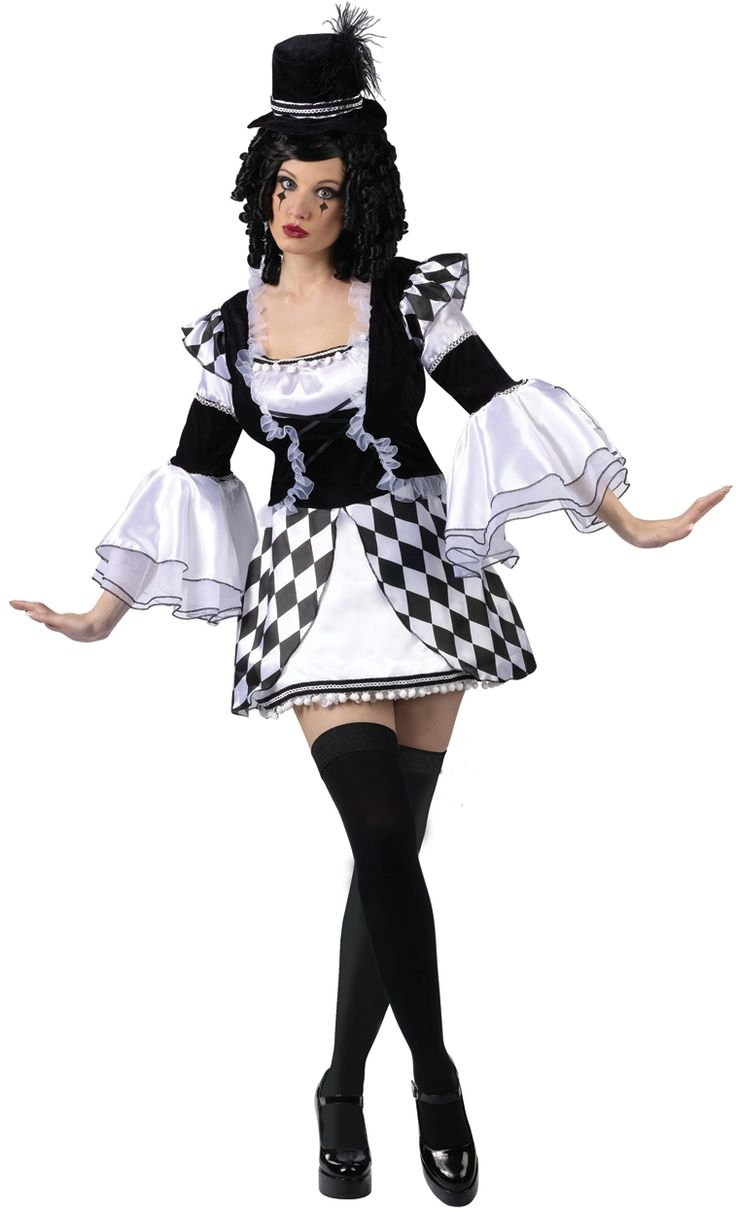 gothic harlequin costume harlow quinn adult costume festive harlequin f te halloween party. Black Bedroom Furniture Sets. Home Design Ideas