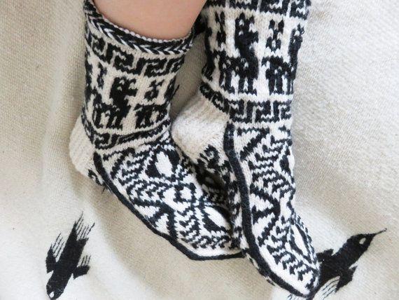 Hand knit wool socks womens wool socks mens wool by WoolSpace