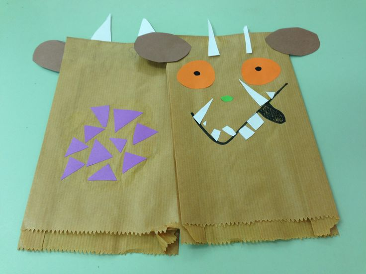 Paper bag puppet ~ The Gruffalo
