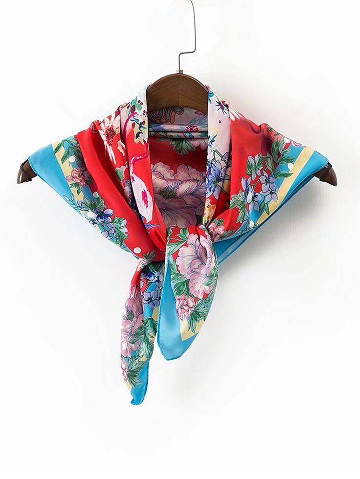 Shop Flower Print Square Scarf online. SheIn offers Flower Print Square Scarf & more to fit your fashionable needs.