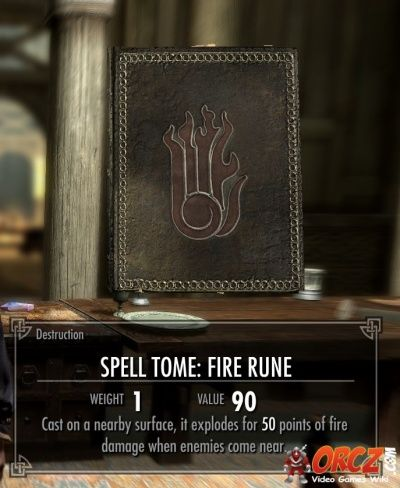 Skyrim: Spell Tome Fire Rune - Orcz.com, The Video Games Wiki