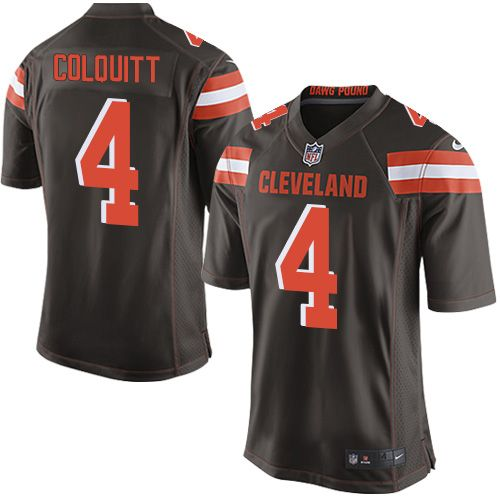 $24.99 Men's Nike Cleveland Browns #4 Britton Colquitt Game Brown Team Color NFL Jersey