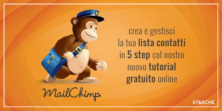 Crea e gestisci la tua lista contatti in MailChimp in 5 step! Segui il Tutorial online gratuito dell'Agenzia di Pubblicità a Napoli AT&ACME #ateacme #tutorial #mailchimp