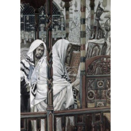 Jesus Teaching in the Synagogue James Tissot (1836-1902French) Canvas Art - James Tissot (24 x 36)