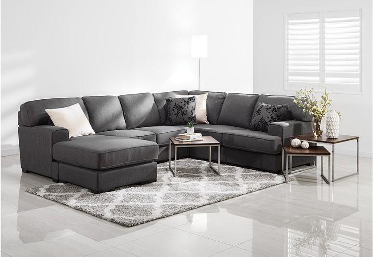 Betty Fabric 6 Seater Corner Lounge Suite | Super Amart