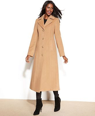 Anne Klein Petite Wool-Cashmere-Blend Maxi Walker Coat | Women's ...