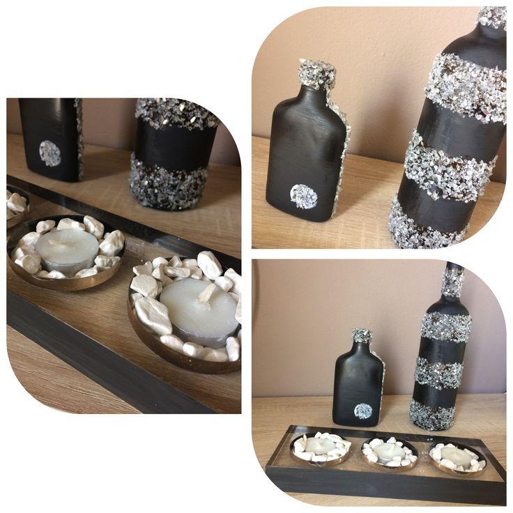 Χειροτεχνίες-μπουκάλια με πέτρες