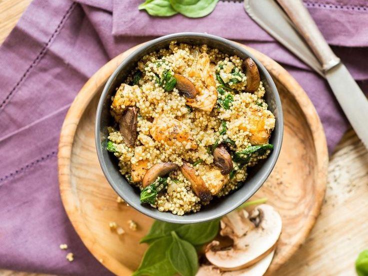 One-Pot-Quinoa mit Hähnchen und Spinat_NEU