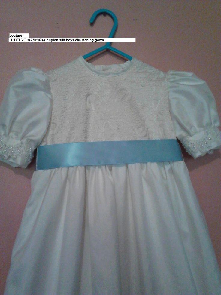 heirloom boys dupion silk gown $220