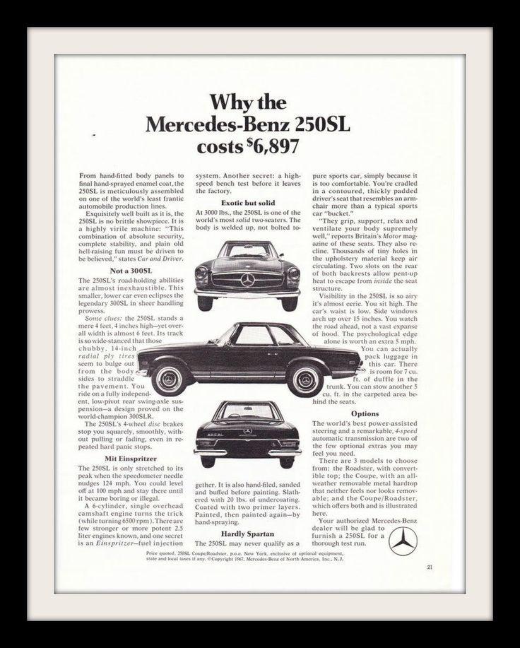 Mercedes Benz 250sl: Best 25+ Mercedes Benz Ideas On Pinterest