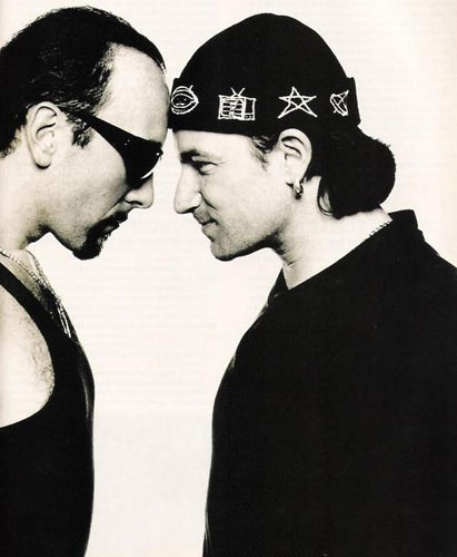 U2- The Edge and Bono, Achtung Baby and Zoo era