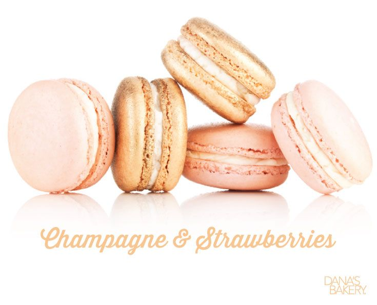 The perfect celebration starts with the right dessert! Keep it classy with Champagne and Strawberry macarons! Sweet champagne and fruity strawberry shortcake is one flavor combo you don't want to miss! Dana's Bakery macarons are kosher, gluten free, and shipped fresh nationwide. If you would like to order this flavor, please visit our website (www.danasbakery.com) or contact our Customer Service Team by calling (800) 477-1816 / info@danasbakery.com. #macarons