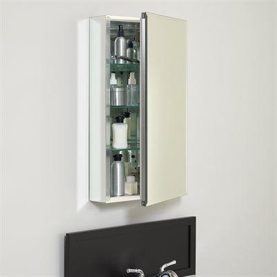 Zenith Designer Series 20-in x 26-in Aluminum Metal Surface Mount and Recessed Medicine Cabinet