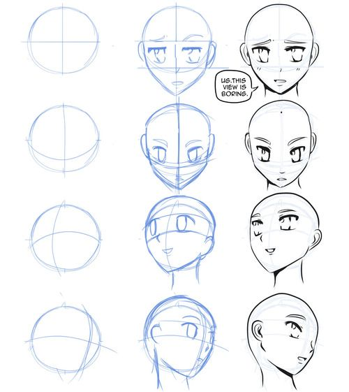 How To Draw Manga Head Angles